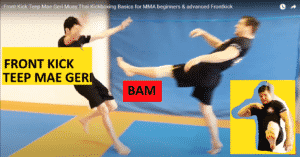 Front Kick Teep Mae Geri Muay Thai Kickboxing Basics for MMA beginners & advanced Frontkick by Peter Mettler