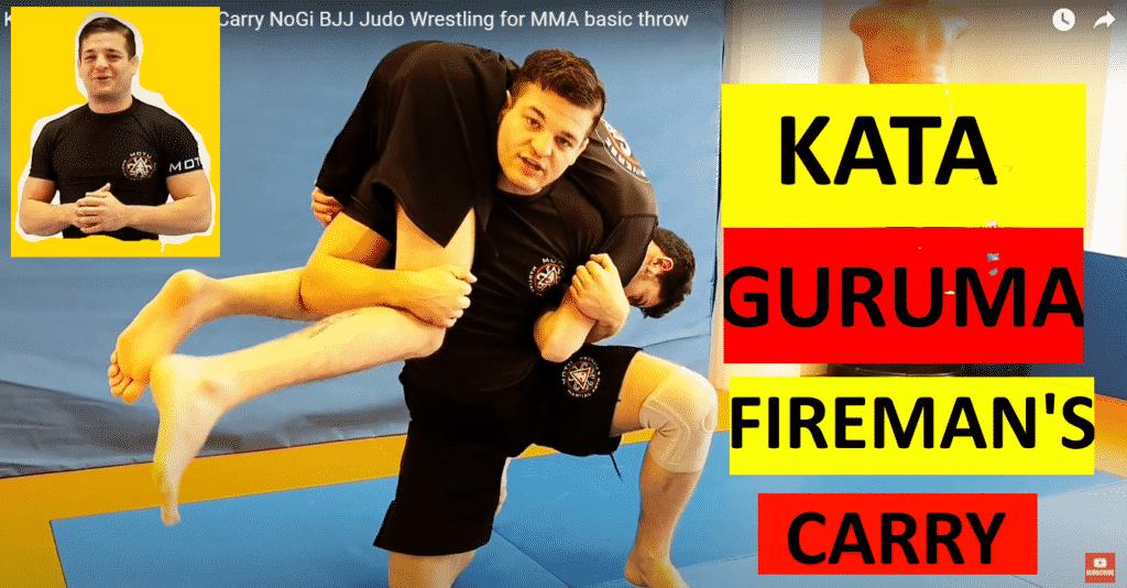 Kata Guruma Fireman's carry Judo wrestling bjj MMA Peter Mettler