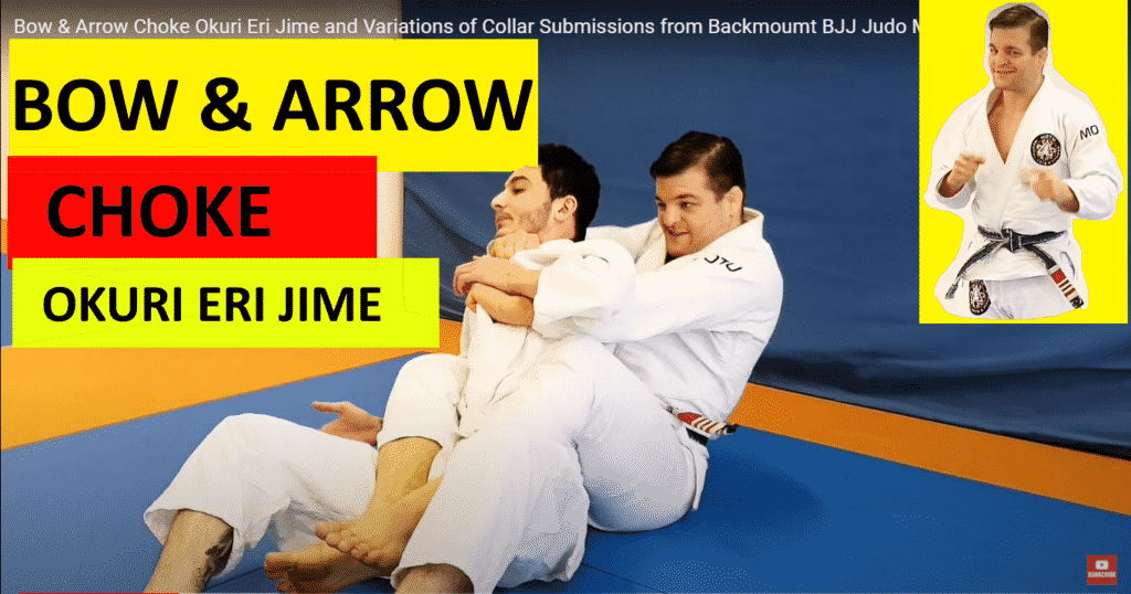 Bow & Arrow Choke Okuri Eri Jime and Variations of Collar Submissions from Backmoumt BJJ Judo MMa by peter mettler